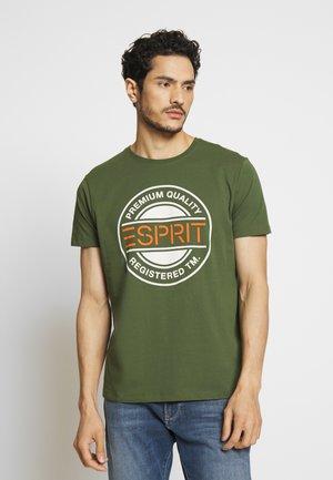 T-shirt med print - khaki green
