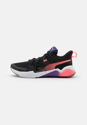 CELL FRACTION - Neutral running shoes - black/ignite pink/elektro blue