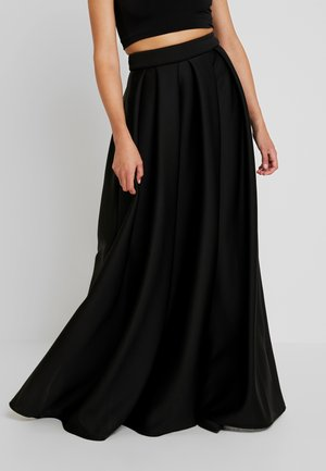 TRUE VIOLET LABEL PUFF SKIRT - Maxi skirt - black