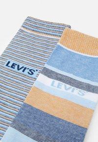 Levi's® - REGULAR CUT MICRO STRIPE 2 PACK - Socks - brown/blue - 1