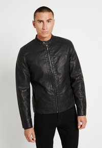 Only & Sons - ONSMIKE RACER - Faux leather jacket - black - 0