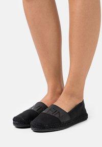 Calvin Klein Jeans - ROPED TOE - Espadrilles - black - 0