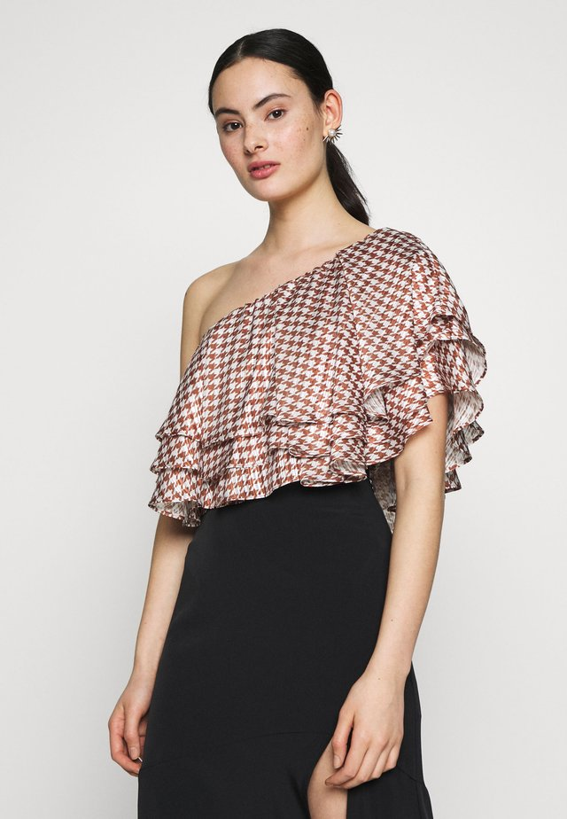 AMELIA BLOUSE - Blouse - brown white