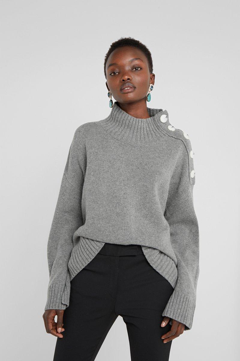 By Malene Birger - KERRIA - Sweter - medium grey melange