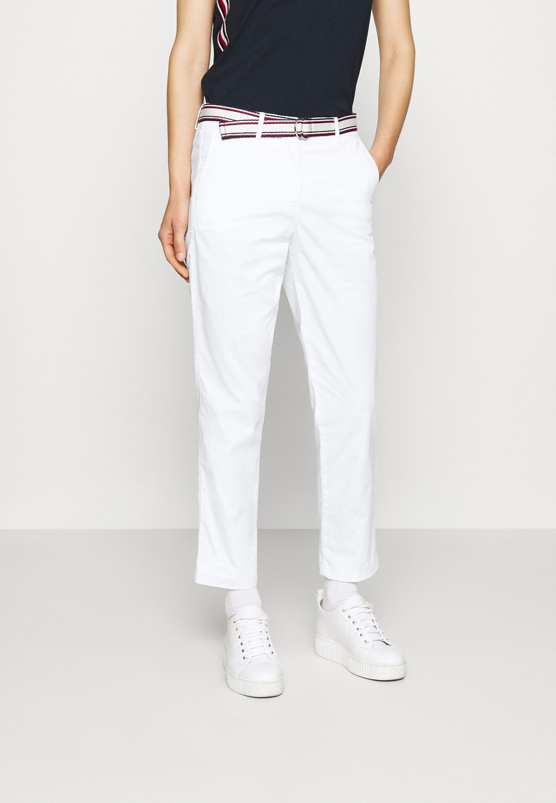Tommy Hilfiger - SLIM PANT - Trousers - white