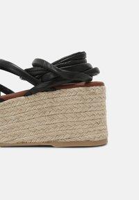 ALOHAS - PAW-PAW - Sandály na platformě - black - 5