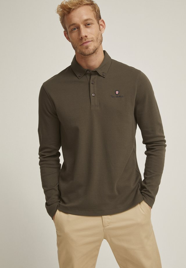 EASTMAN - Polo shirt - black olive