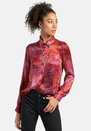 Button-down blouse - bordeaux/multicolor