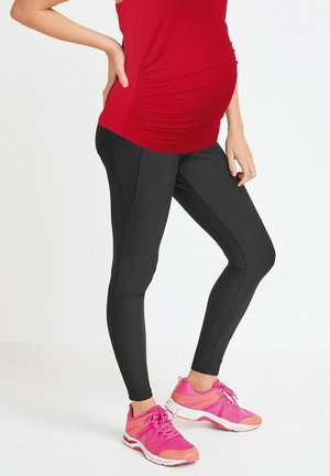 2-IN-1 BUMP SUPPORT  - Leggings - Trousers - black