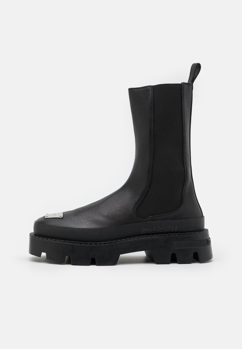 MISBHV - CHELSEA COMBAT BOOT - Kovbojské/motorkářské boty - black