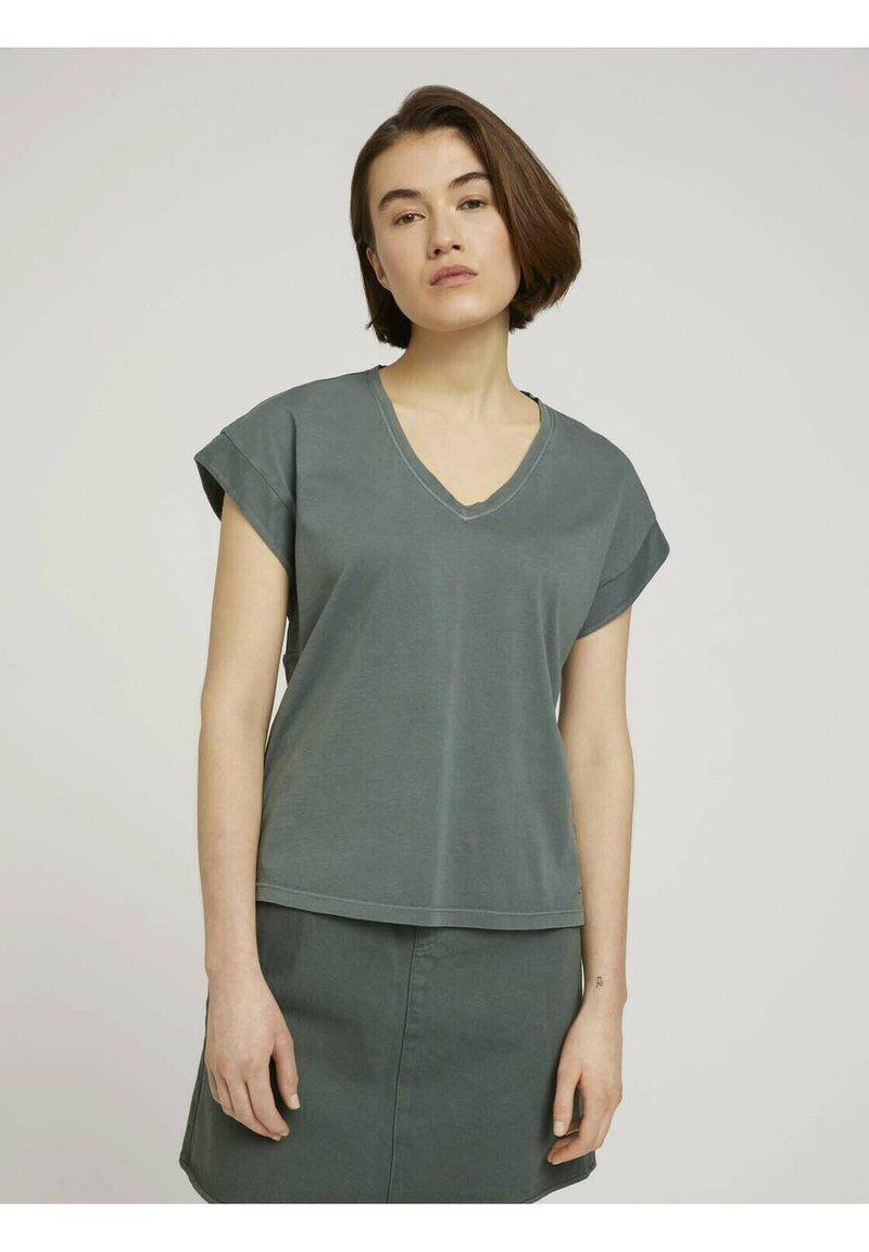 TOM TAILOR DENIM - T-shirt basic - dusty pine green