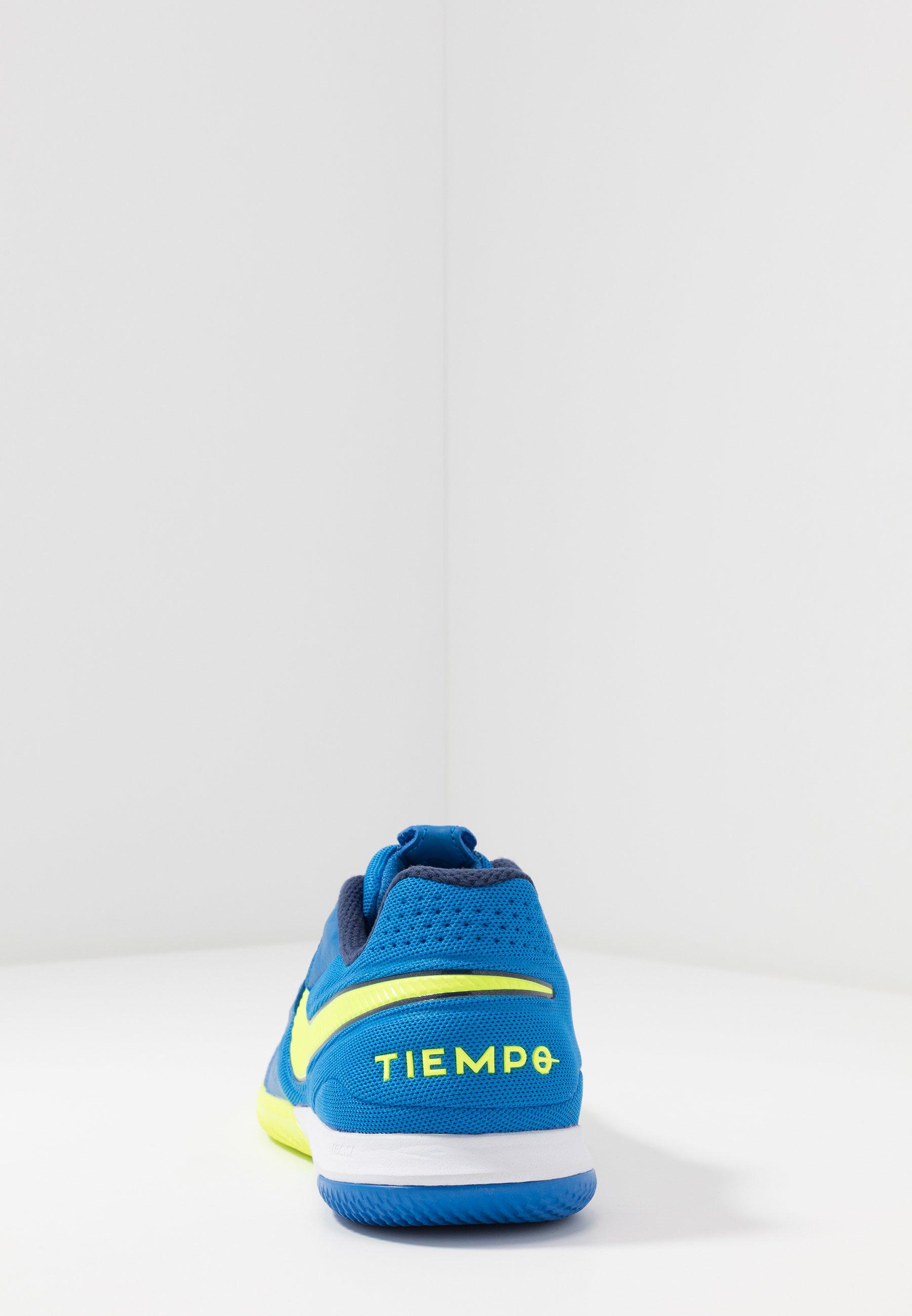 Nike Performance TIEMPO REACT LEGEND 8 PRO IC - Fußballschuh Halle - soar/midnight navy/volt/blau - Herrenschuhe xUTSn