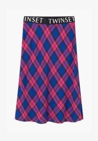 TWINSET - LUNGUETTE IN TESSUTO CHECK - Áčková sukně - pink - 0