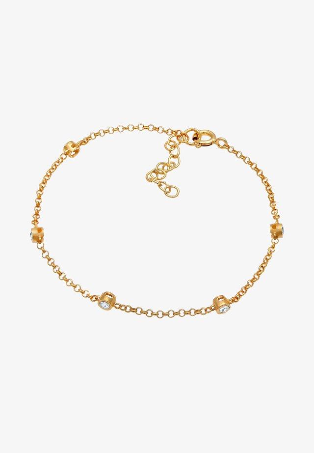 ZART FUNKELND SWAROVSKI® KRISTALLE 925 SILBER - Bracelet - gold