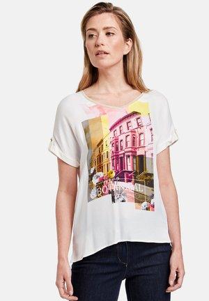 Print T-shirt - ecru/weiss