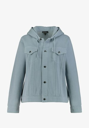 Zip-up hoodie - silver blue