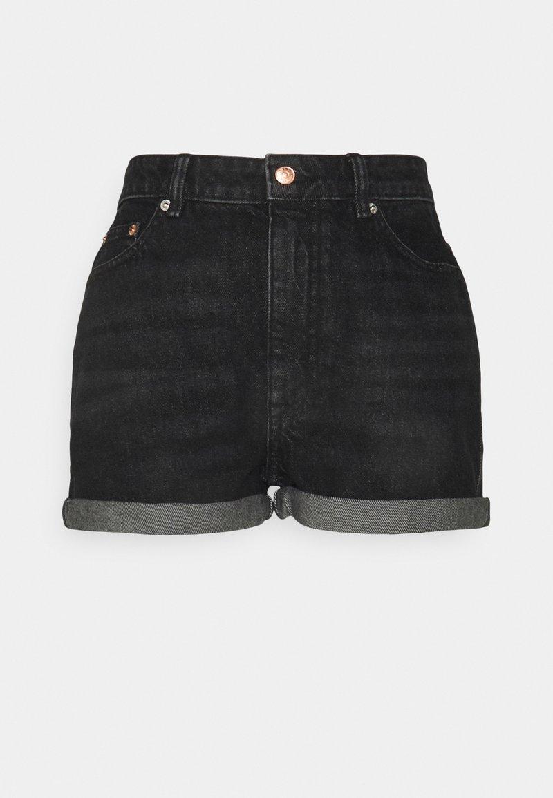 ONLY Petite - ONLBAY LIFE MOM - Shorts di jeans - black denim