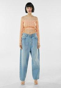 Bershka - MIT CARMEN - Long sleeved top - orange - 1