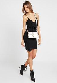Missguided - SLINKY WRAP OVER MINI DRESS - Shift dress - black - 2