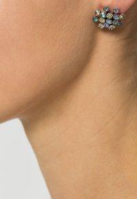 Konplott - MAGIC FIREBALL - Earrings - yellow/lila antique/silver-coloured - 0