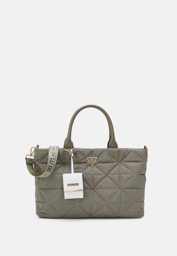 SET - Tote bag - khaki dark