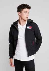 Tommy Jeans - JACKET - Light jacket - black - 0