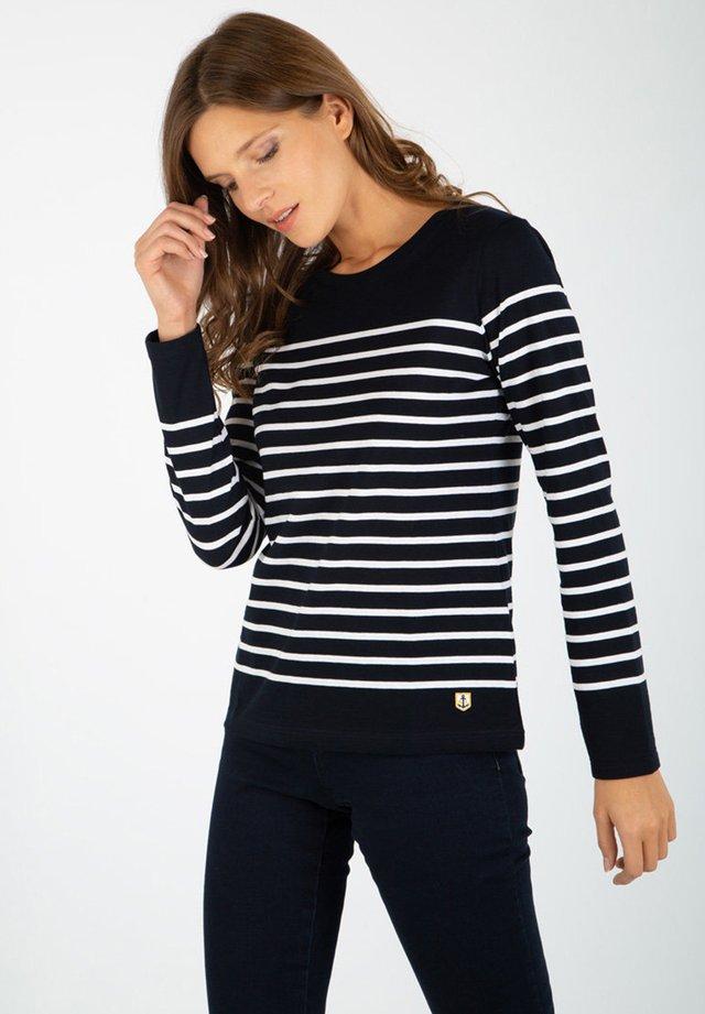 PORT-LOUIS - MARINIÈRE - T-SHIRT - T-shirt à manches longues - rich navy blanc