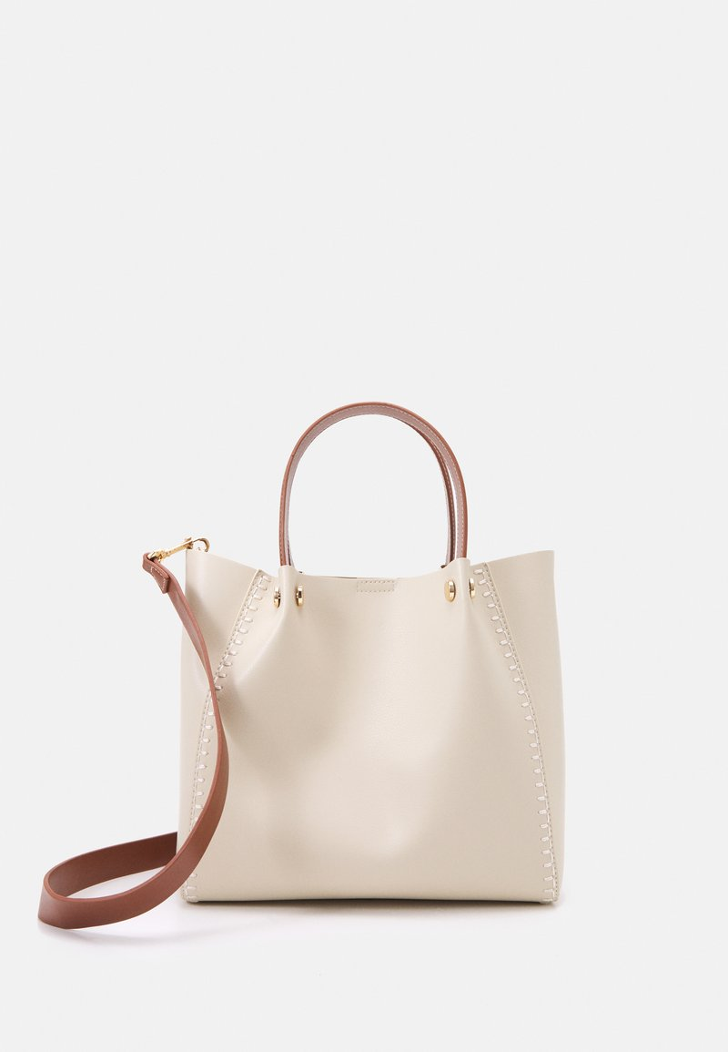 PARFOIS - SHOPPER BAG PEGGY SET - Handbag - ecru