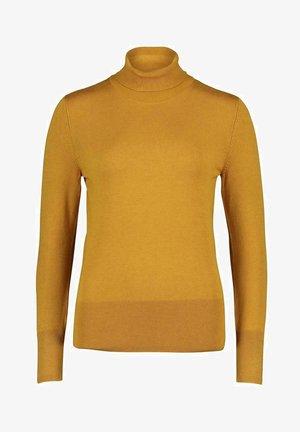 ROLLKRAGENPULLOVER - Fleece jumper - yellow