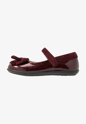 Ankle strap ballet pumps - bordeaux