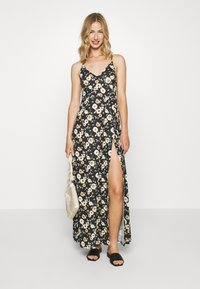 Even&Odd - Maxi-jurk - black/yellow - 1