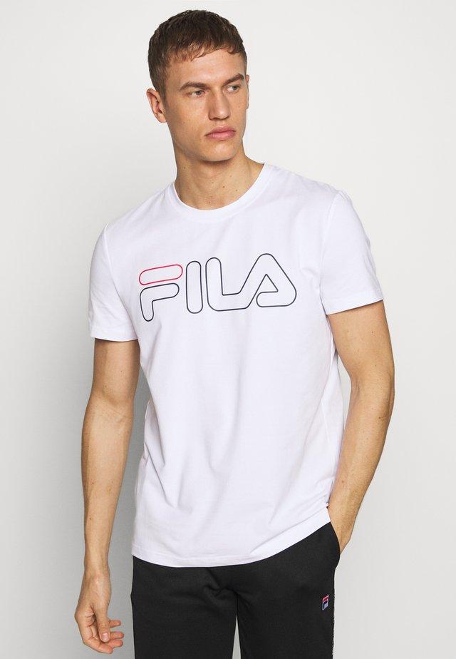 RICKI - T-shirt print - white