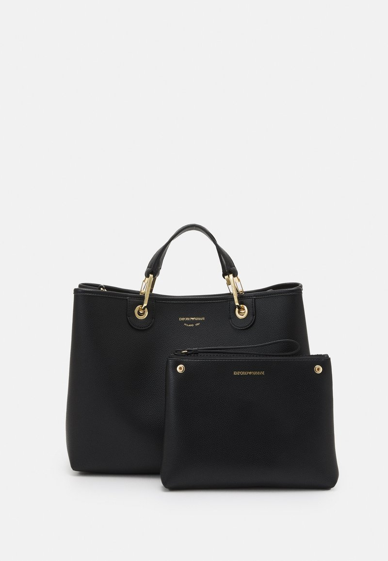 Emporio Armani - CAPSULE MYEABORSA SET - Handbag - nero/silver-coloured