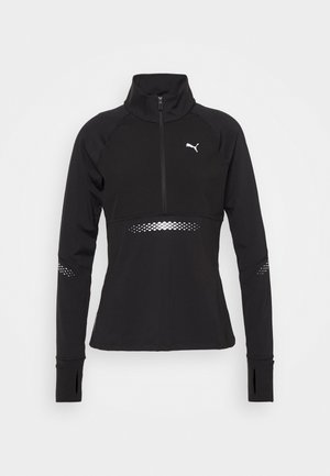 RUNNER ZIP - Camiseta de deporte - black