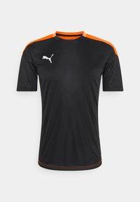 Puma - Print T-shirt - black/shocking orange - 0
