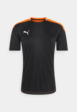T-shirt print - black/shocking orange