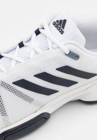 adidas Performance - CLUB CARPET - Carpet court tennis shoes - white - 5