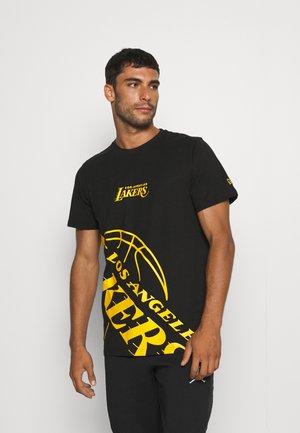 NBA LOS ANGELES LAKERS ENLARGED LOGO TEE - Article de supporter - black
