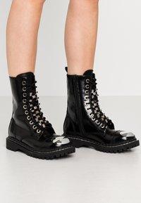 Jeffrey Campbell - Cowboy/biker ankle boot - black - 0