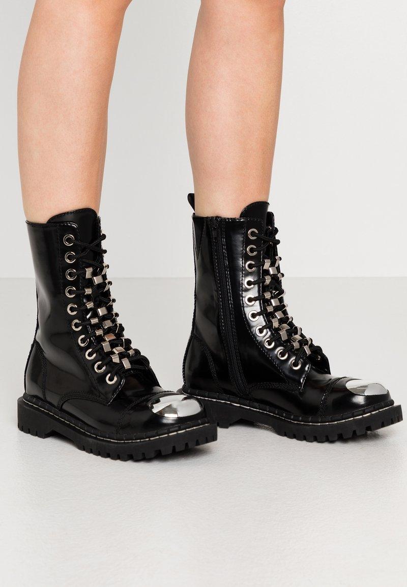 Jeffrey Campbell - Cowboy/biker ankle boot - black
