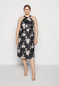 Anna Field Curvy - Žerzejové šaty - black/white - 0