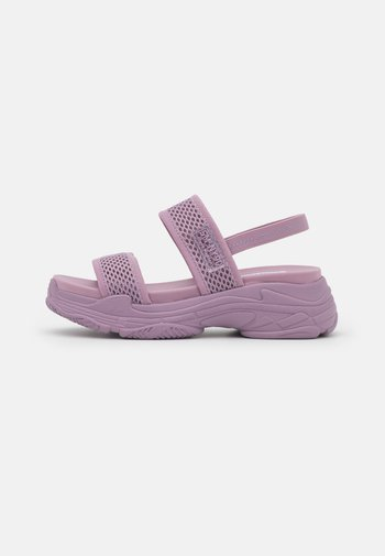 SAMURAI - Platform sandals - purple