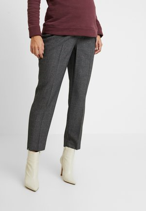 UNDERBUMP ORLA CHECK ANKLE GRAZER - Trousers - grey marl