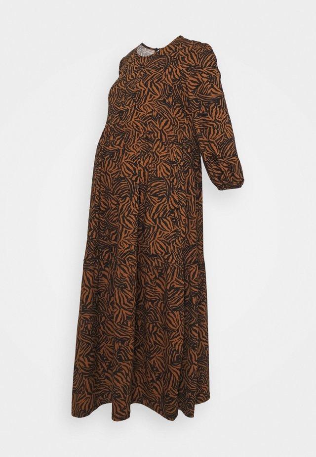 MIA ZEBRA SOFT TOUCH MIDI - Jersey dress - brown