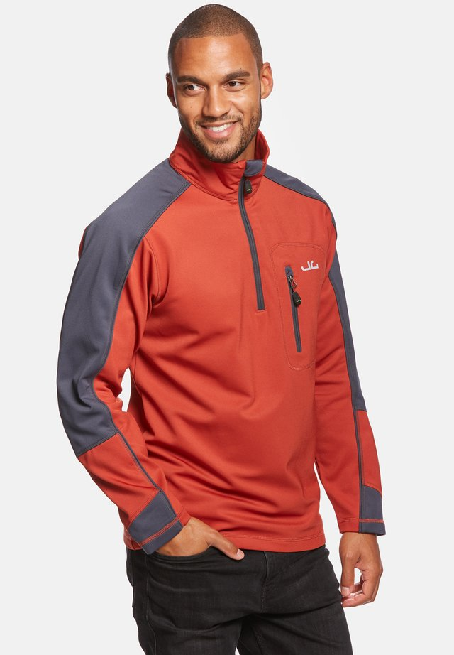 Fleece trui - burned red/navy