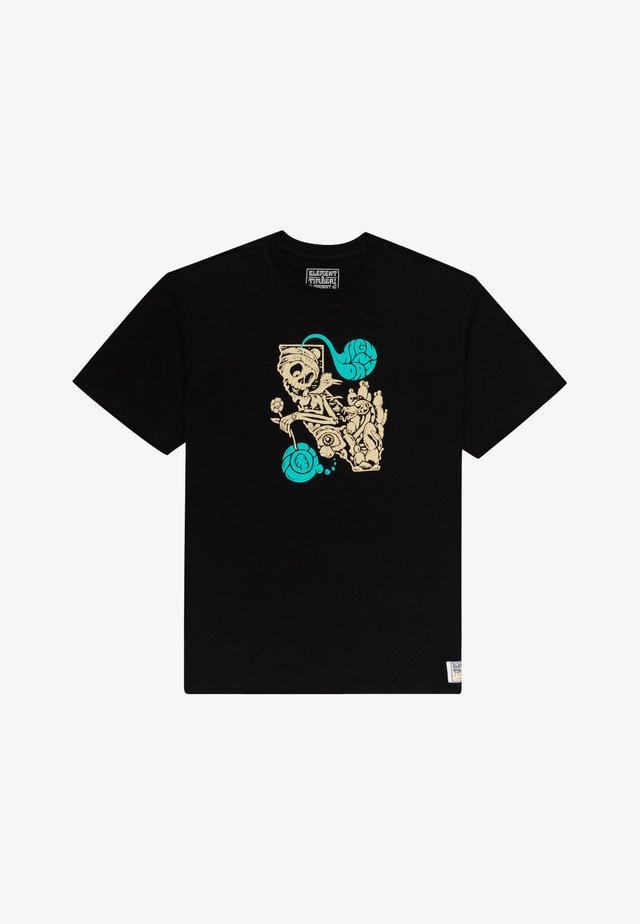 T-shirts print - flint black