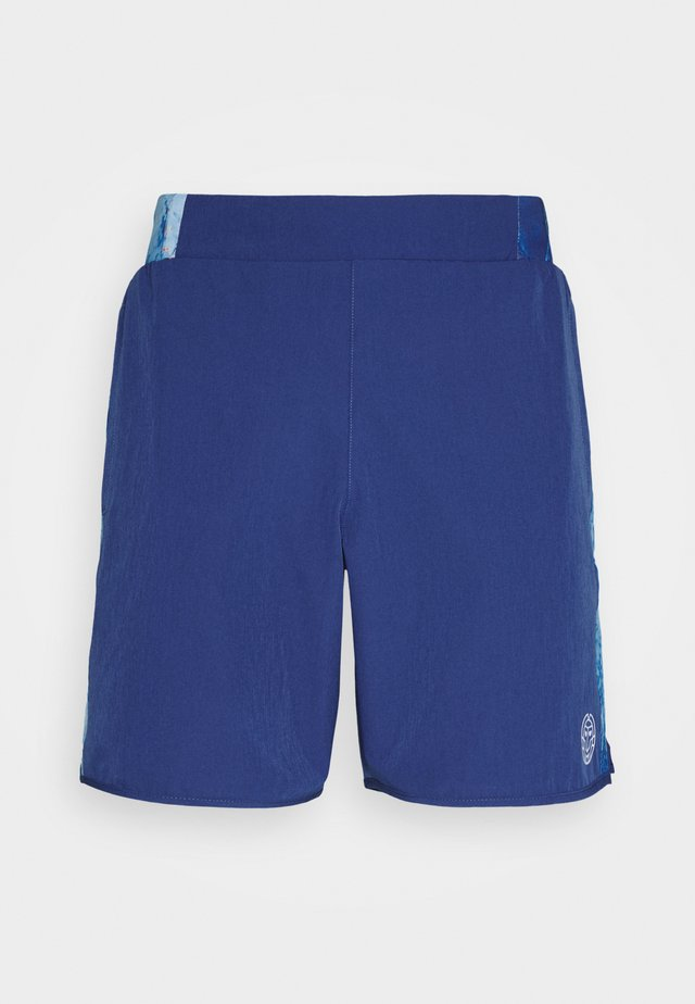 ADNAN TECH SHORTS - Short de sport - dark blue/aqua