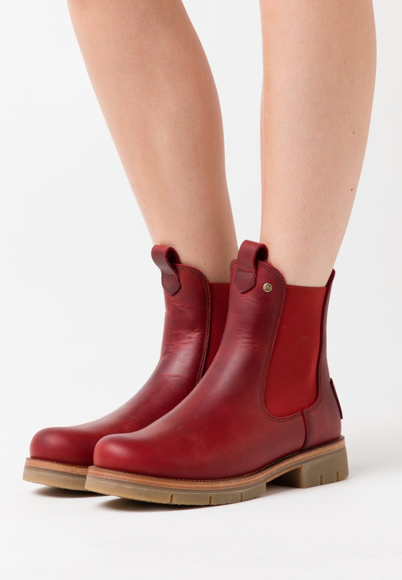 Panama Jack - FILIPA IGLOO NATURE - Kotníkové boty na platformě - rojo/red