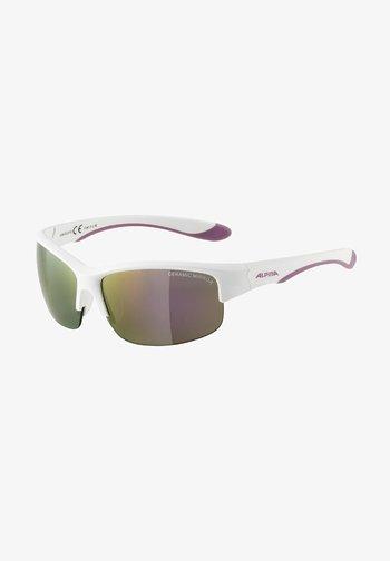 Sunglasses - white-purple