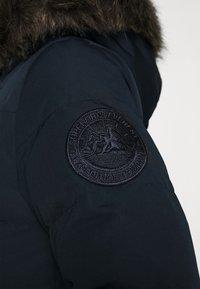 Superdry - LONGLINE FAUX FUR EVEREST COAT - Winter coat - eclipse navy - 6